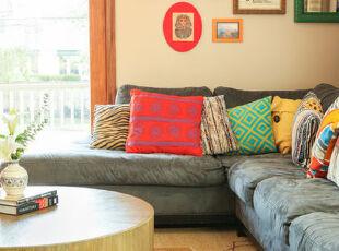 圆形,椭圆形,正方形,长方形,菱形,不规则图形..有机的组合,让客厅丰满起来,简约,客厅,相片墙,黄色,春色,