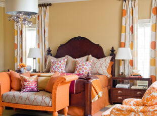好黄好大胆,客厅,地台,欧式,黄色,春色,