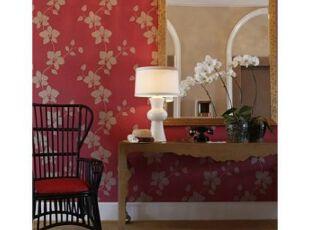 """整个梳妆间""""繁花拥簇"""",好一派春色。,欧式,灯具,墙面,红色,绿色,"""