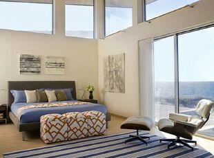 床榻物语:三分大胆,七分精致,卧室,地台,墙面,简约,小资,地中海,蓝色,白色,