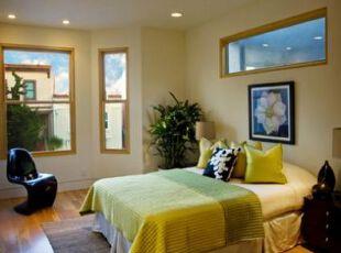 床榻物语:三分大胆,七分精致,卧室,地台,田园,绿色,