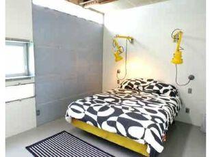 床榻物语:三分大胆,七分精致,卧室,灯具,简约,蓝色,黄色,