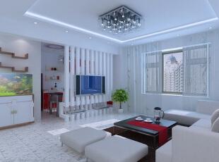 在这个寸土寸金的时代,想要每一寸面积都利用极致,可巧用客厅隔断设计,将客厅区域共享于其它的功能区,打造一室多用魅力空间。 ,客厅,现代,白色,