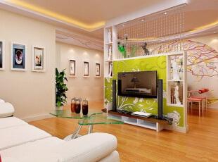 在这个寸土寸金的时代,想要每一寸面积都利用极致,可巧用客厅隔断设计,将客厅区域共享于其它的功能区,打造一室多用魅力空间。 ,客厅,简约,墙面,绿色,白色,原木色,