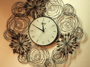 最美时光之创意时钟,墙面,现代,黄色,