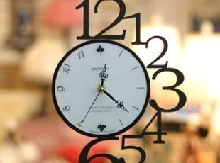 最美时光之创意时钟,墙面,现代,黑白,