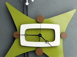 最美时光之创意时钟,墙面,现代,简约,绿色,白色,