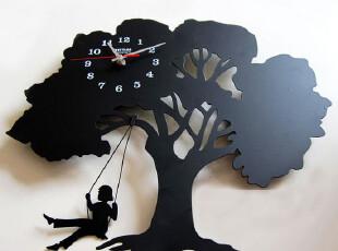 最美时光之创意时钟,墙面,现代,简约,黑白,