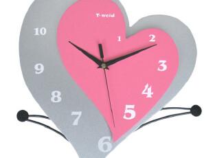 最美时光之创意时钟,墙面,现代,简约,粉色,