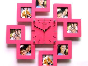最美时光之创意时钟,墙面,宜家,简约,粉色,