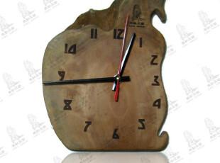 最美时光之创意时钟,墙面,中式,原木色,