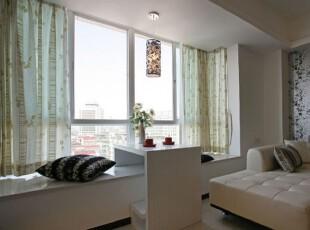 小户型飘窗添情趣 最是惬意好时光,飘窗,现代,白色,