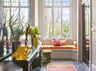 小户型飘窗添情趣 最是惬意好时光,飘窗,现代,白色,黄色,