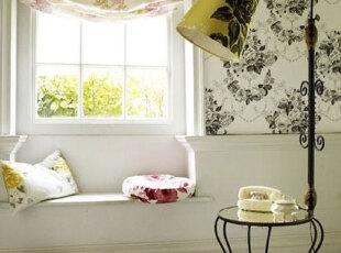 小户型飘窗添情趣 最是惬意好时光,飘窗,田园,黄色,