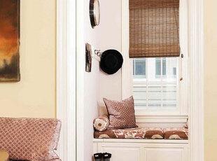 小户型飘窗添情趣 最是惬意好时光,飘窗,墙面,窗帘,简约,白色,原木色,
