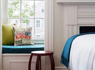 小户型飘窗添情趣 最是惬意好时光,飘窗,欧式,白色,春色,