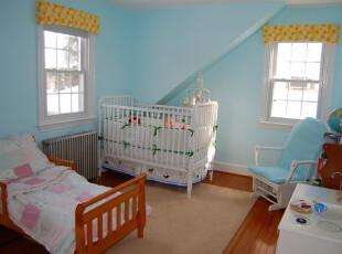 小公主的梦幻世界,儿童房,阁楼,地中海,蓝色,