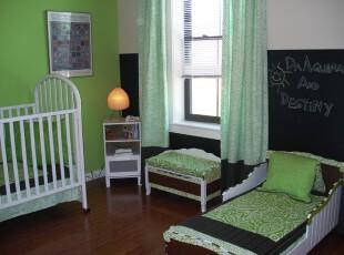 小公主的梦幻世界,儿童房,现代,绿色,
