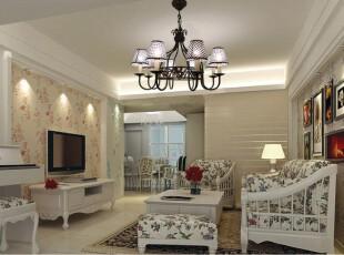 ,客厅,灯具,欧式,白色,