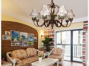 ,客厅,灯具,相片墙,欧式,