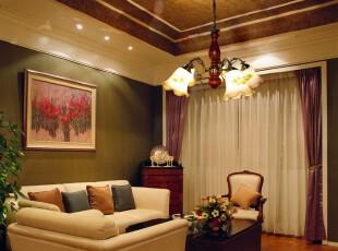 ,客厅,灯具,欧式,绿色,紫色,