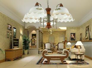 ,客厅,灯具,欧式,绿色,