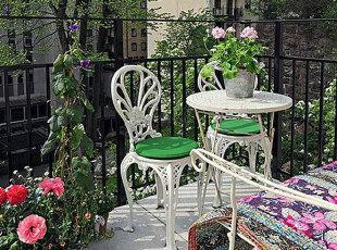 ,阳台,餐厅,欧式,田园,白色,紫色,绿色,