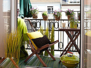 ,阳台,田园,绿色,