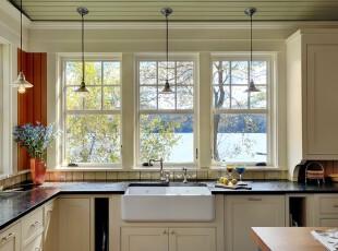 ,厨房,现代,黄色,