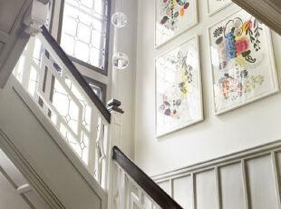 ,楼梯,墙面,中式,黑白,