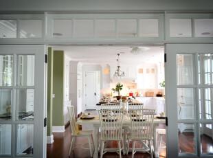 ,餐厅,小资,白色,绿色,