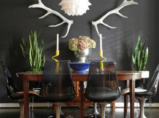 ,餐厅,欧式,原木色,黑白,