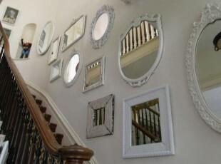 ,楼梯,欧式,黑白,