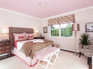 ,卧室,简约,粉红,原木色,