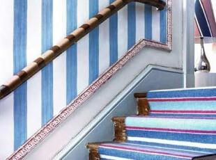 ,楼梯,地中海,蓝色,紫色,