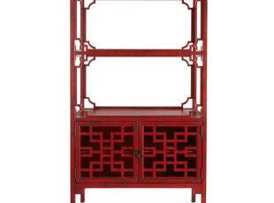 古典中式收纳柜,体现出浓郁的中国风。,收纳,中式,红色,