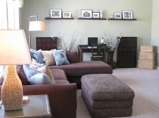 ,客厅,墙面,相片墙,简约,紫色,