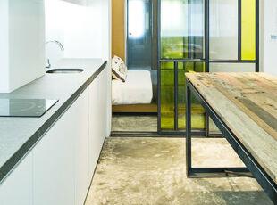 ,厨房,现代,简约,白色,绿色,
