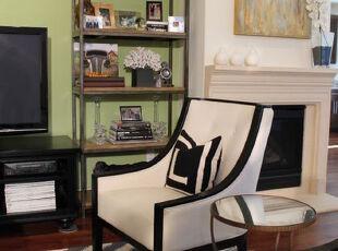 ,客厅,墙面,地台,欧式,黑白,绿色,