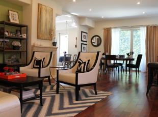 ,客厅,地台,欧式,黑白,绿色,