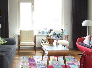 宜家的小客厅,简单温馨。,客厅,宜家,白色,黄色,原木色,红色,