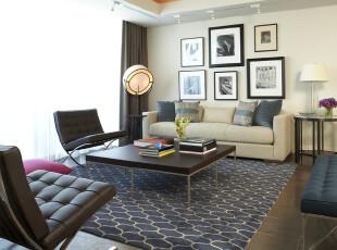 ,客厅,地台,墙面,现代,黑白,