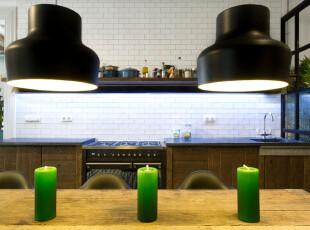 ,厨房,灯具,简约,黑白,原木色,