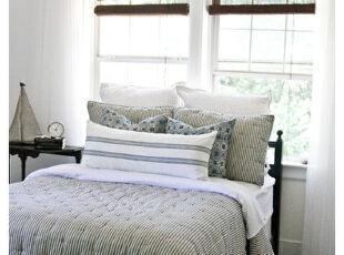 ,卧室,窗帘,简约,黑白,