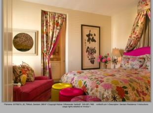 ,卧室,窗帘,中式,春色,