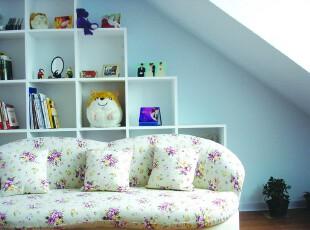 ,阁楼,田园,小资,蓝色,紫色,