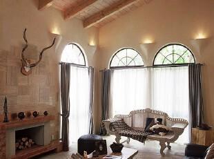 ,客厅,墙面,地台,欧式,