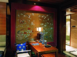 ,餐厅,墙面,中式,原木色,绿色,
