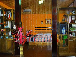 日式风格,卧室,日式,黄色,