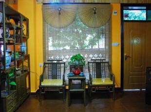 日式风格,客厅,日式,黄色,